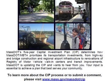 MassDOT Capital Investment Plan Update