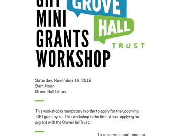 Grove Hall Trust Mini Grants Workshop