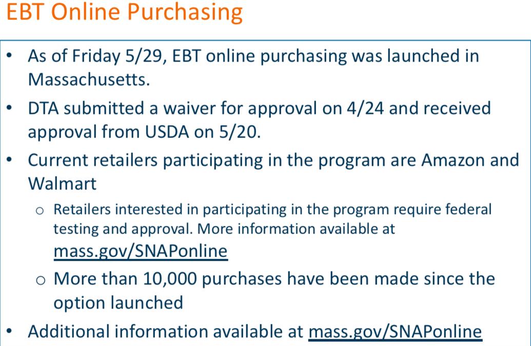 EBT Online Purchasing