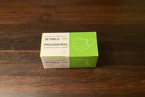 150 MASQUES DE PROCÉDURES (NIVEAUX 1 ) ADULTE JETABLES 3 PLIS BLEU