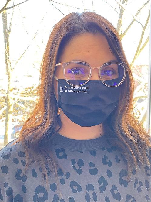 3 Masques ''Ce masque a plus de filtre que moi''