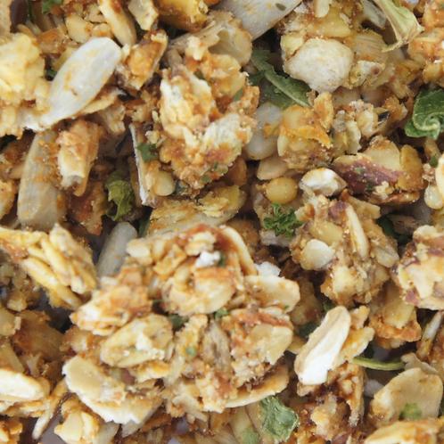 Granola met zoete aardappel & boerenkool (150gr)