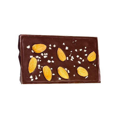 Tablet met gekarameliseerde amandelen & zeezout (100gr)