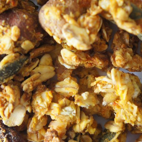 Granola met pompoen & zeste van sinaasappel (150gr)