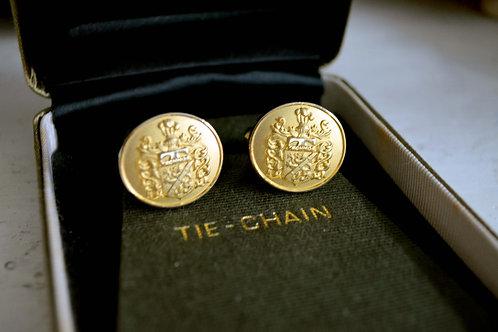 華麗宮廷風金色袖口鈕袖扣 高貴優雅 日本二手中古珠寶首飾古著
