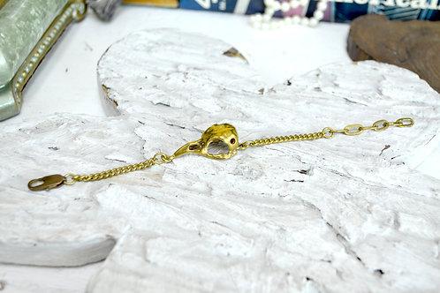 黃銅骷髏鳥頭骨手鍊  Brass Bird's Skull Head Bracelet