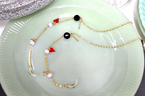 裝飾珠子眼鏡鍊 鍍18K金不易氧化掉色 保色持久防過敏 不包含眼鏡