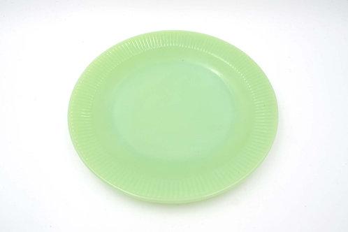 FIRE KING 翡翠半透玻璃餐碟 60s Jadeite Glasses Dinner Plate