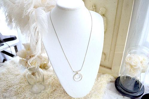 鍍金幼鏈雙環中長項鍊 貴婦少女 輕珠寶 日本高級二手古著珠寶首飾