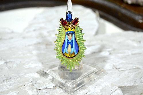復古藝術閃鑽皇室風戒指 高貴優雅 日本二手中古珠寶首飾古著