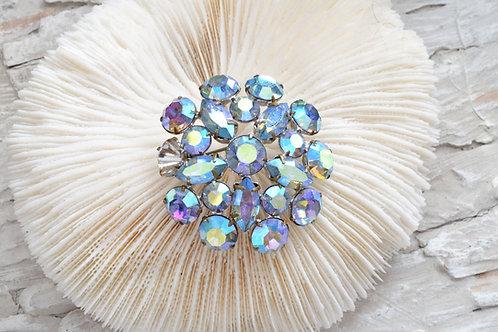幻彩水晶石胸針心口針 已掉鑽 需自行修補 日本中古二手珠寶首飾