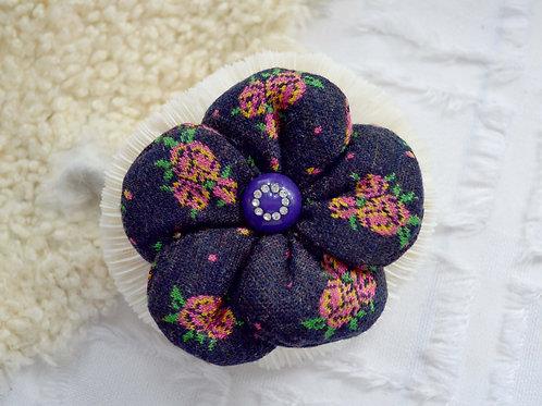 日本立體玫瑰布花胸針 貴婦少女 輕珠寶 日本高級二手古著珠寶首飾