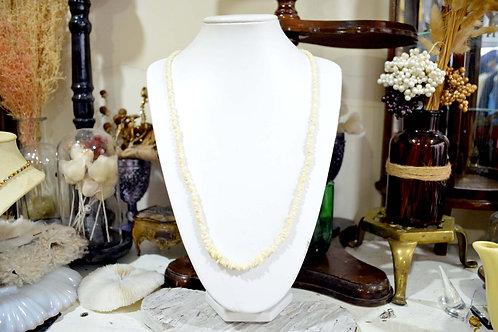 白色貝殼不規則珠項鏈 高貴優雅 日本二手中古珠寶首飾古著