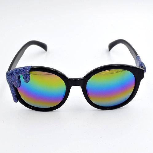 紫黑色閃閃雪糕太陽眼鏡