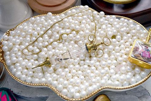 黃銅針筒骷髏頭頸鍊 黃銅材質