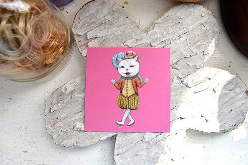 GOOKASO 貓咪伯爵先生 明信片 珠光卡紙材質 POSTCARD