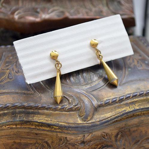 貴族金色耳夾 貴婦淑女 日本高級二手古著珠寶首飾