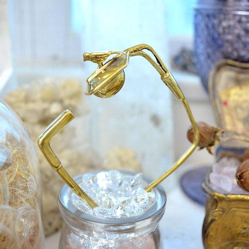 黃銅小鳥屋方型手鐲  Brass Bird House Square Shape Bangle