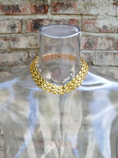 鍍金埃及女王粗項鏈 80年代 古董收藏級品 日本二手中古珠寶首飾