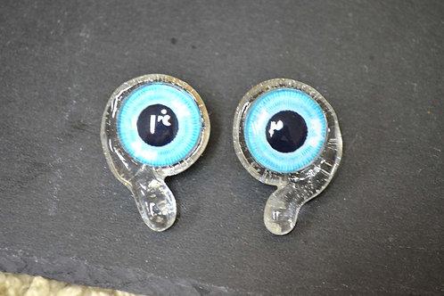 逗號眼睛水滴夾耳環 透明簡約時尚