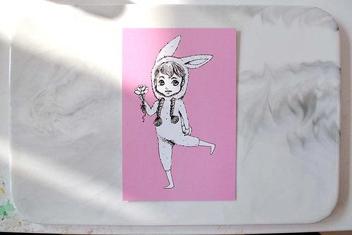 GOOKASO 兔子少年 多肉植物蘑菇王國明信片 珠光卡紙材質POSTCARD