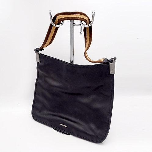 中古Gucci黑色真皮單肩風琴包手袋包包 意大利高級二手古著珠寶