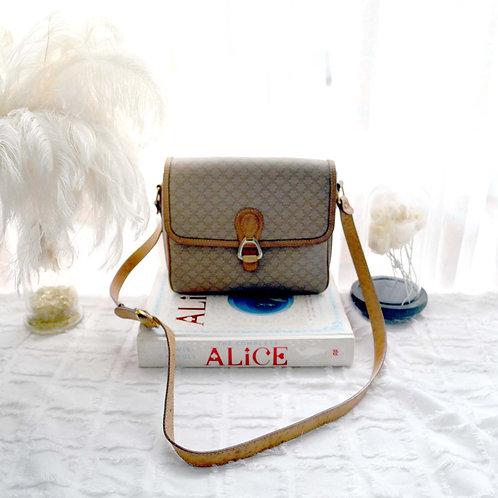 中古CELINE PU +真皮三格手袋包包 意大利高級二手古著珠寶首飾