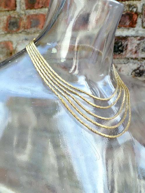 鍍金奢華垂墜感高貴項鏈 高貴優雅 日本二手中古珠寶首飾