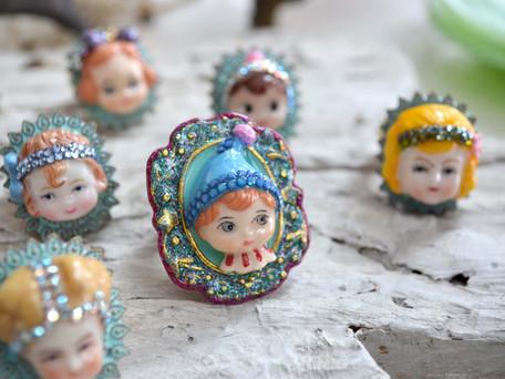 可愛手繪娃娃戒指  Cuties Baby Doll Rings
