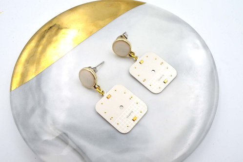 金色古董錶面耳環  Golden Vintage Dial Earrings