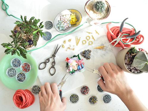 立體軟陶娃娃飾品設計 頸鍊創作班 附施華洛水晶 Handmade Polymer Clay Necklace Making Class