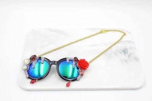 雪糕玫瑰花裝飾眼鏡頸鍊 Ice Cream with Rose sunglasses Necklace