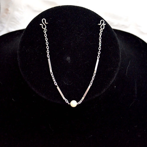 日本鍍銀珍珠手鏈 貴婦少女 輕珠寶 日本高級二手古著珠寶首飾