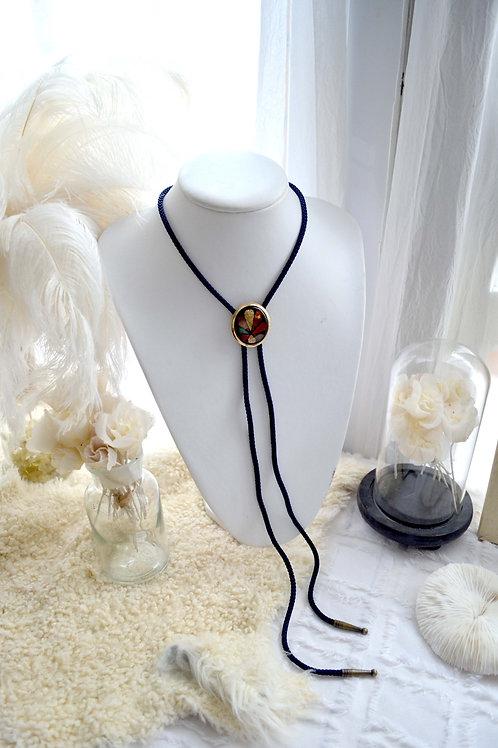 日本藝術鍍金燒陶織繩項鍊 貴婦少女 輕珠寶 日本高級二手古著珠寶首飾