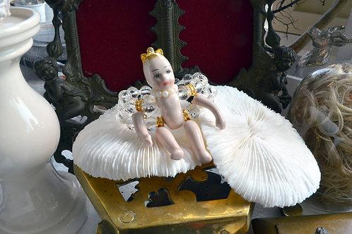 活動陶瓷娃娃 雙串透明水晶手鍊