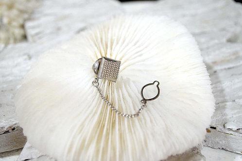低調奢華復古突紋銀色胸針 高貴優雅 日本二手中古珠寶首飾古著