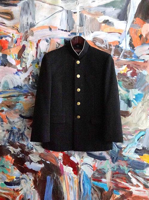 日本高中男子黑色企領校服 鬼滅之刃隊服Cosplay文青古著中古服飾 的副本