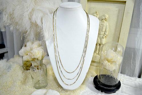 鍍金貴婦風三連垂墜層次項鏈 貴婦少女 日本高級二手古著珠寶首飾
