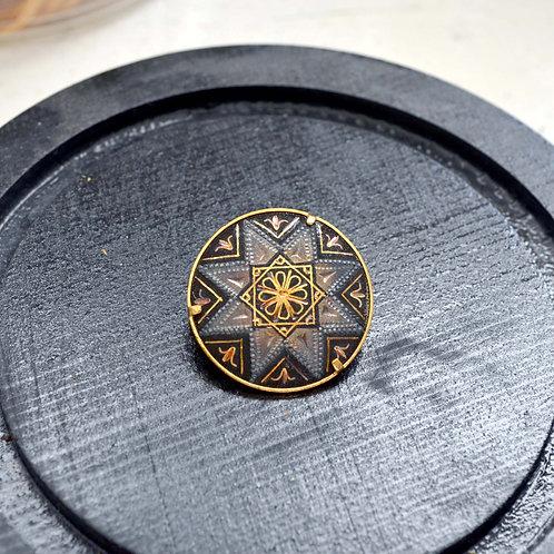 巴洛克式宮廷藝術感胸針  高貴優雅 日本二手中古珠寶首飾