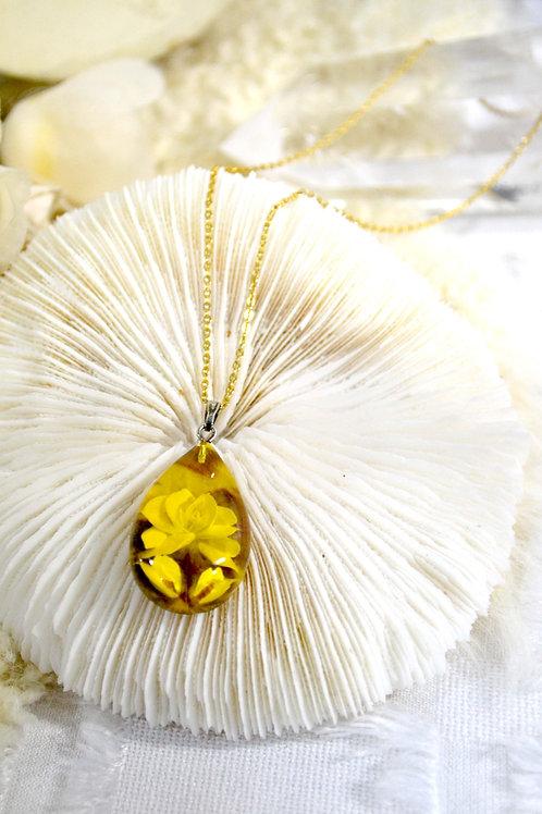 玳瑁琥珀水滴玫瑰花雕刻頸鍊項鍊 日本高級二手古著貴婦珠寶首飾