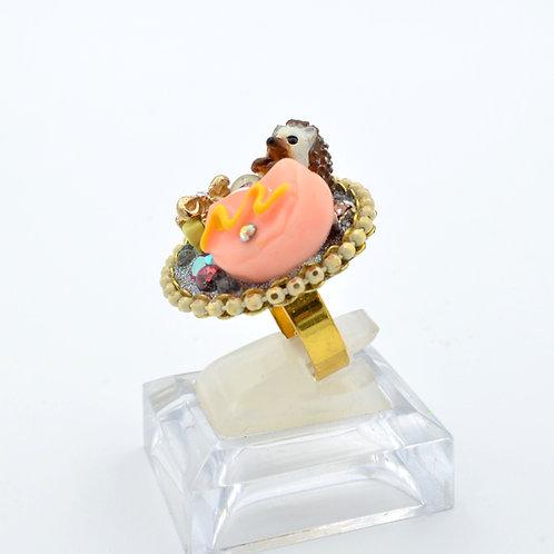 小刺蝟花園裝飾戒指