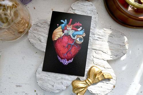 GOOKASO 貓咪國王 黑暗風心臟寶座 明信片 珠光卡紙材質POSTCARD