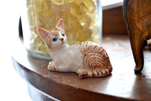 日本手工手繪陶瓷貓咪 迷你尺寸 手工超細膩 娃娃屋擺設 家居裝飾