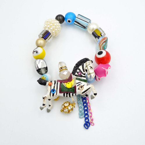 旋轉木馬寶石串珠手鍊 復古擺設零件製作 限量製作