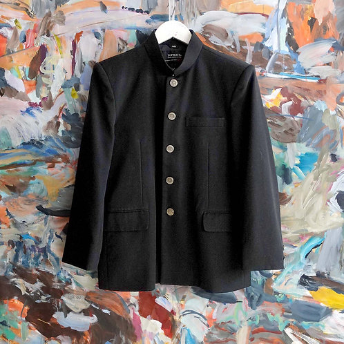 日本高中男子黑色企領校服 鬼滅之刃隊服Cosplay文青古著中古服飾