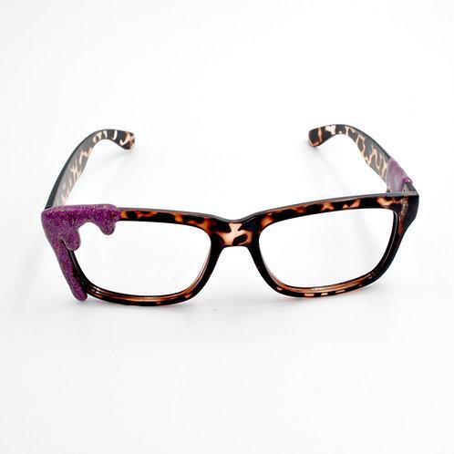 紅莓色閃閃雪糕眼鏡框