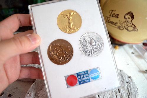 1975年沖繩國際海洋博覽會紀念幣 高貴優雅 日本二手中古珠寶首飾古著