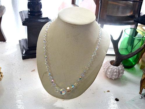 超閃施華洛白水晶項鏈 貴婦淑女 日本高級二手古著珠寶首飾