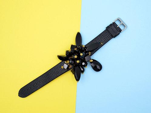 黑色琉璃石手錶帶