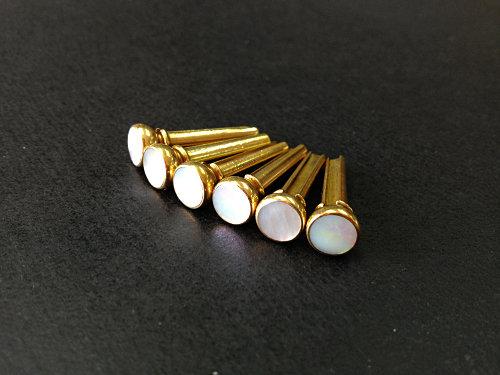 手工白色貝殼銅釘 (木結他專用)